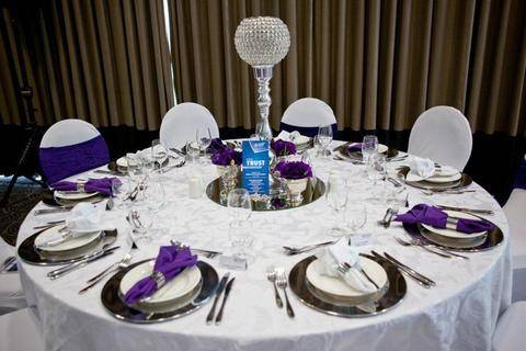 corporate decor silver crystal ball